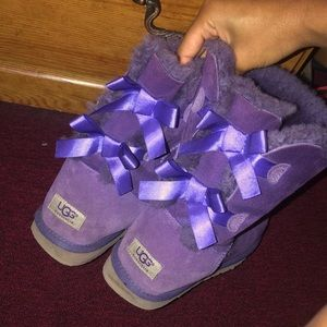 Purple Ugg Boots W/ Bows